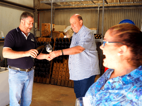 Sparkling winemaking at Cuttaway Hill Wines with Mark Bourne - Taste of the Highlands gourmet food and wine tour from Sydney