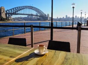 Coffee at a harbourside café - Quay People walking tour